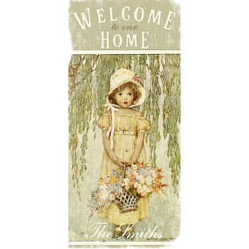 Personalized Welcome To Our Home Wood Sign