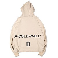 OFFWHITE Women Men Fashion Casual Hooded Two Sides Wear Top Sweater Pullover