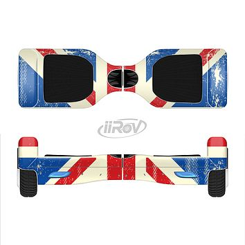 The Grunge Vintage Textured London England Flag Full-Body Skin Set for the Smart Drifting SuperCharged iiRov HoverBoard