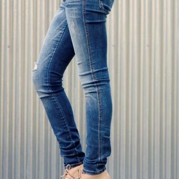 Medium Wash Distressed Jeans