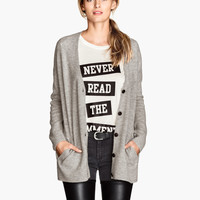 Wide-cut Wool-blend Cardigan - from H&M