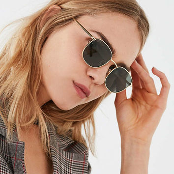 Le Specs Neptune Polarized Square Sunglasses | Urban Outfitters