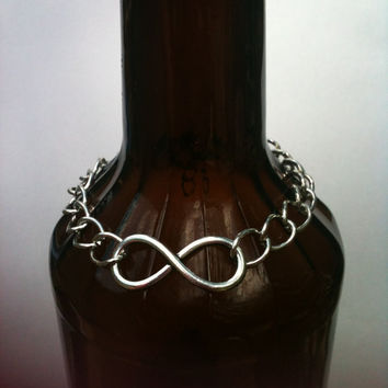 Chunky Chain Link Infinity Bracelet His or Her Jewelry