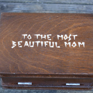 Mother's day from daughter son SECRET COMPARTMENT Jewelry Box personalized puzzle box gifts gift for wife mom women