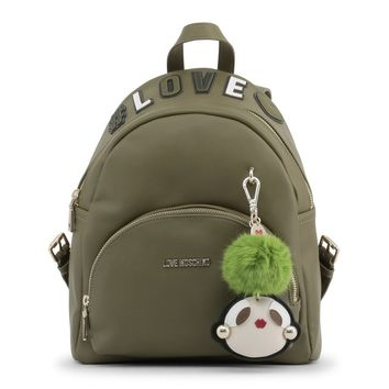 Love Moschino Green Padded Leather Backpack