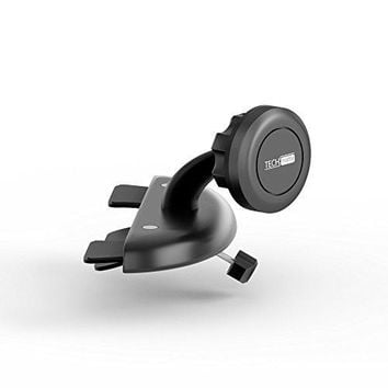Car Mount TechMatte MagGrip CD Slot Magnetic Universal Car Mount Holder for Smartphones including iPhone X, 8, 7, 6, 6S, Galaxy S8, S7, S7 Edge - Black