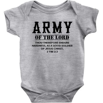 Army Of The Lord Christian T Shirts Bible Verse Baby Onesuit