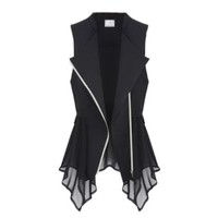 Fashion New Womens Chiffon Vest Casual Waistcoat Lady Blouse Girl Plus Size Top:Amazon:Clothing
