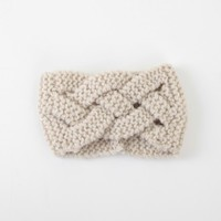 Altar'd State Basket Weave Headwrap in Off White | Altar'd State