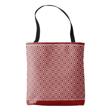 Red Tilted Square Minor Monogram Tote Bag