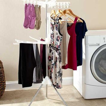 Clothes Rack Laundry Hang Dry Space Saver Portable 2 Tier