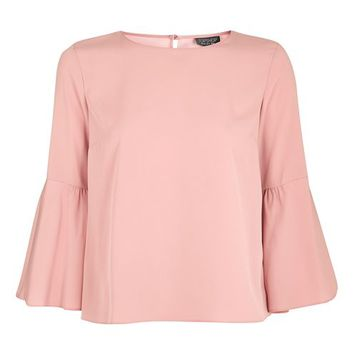 Trumpet Sleeve Top - Tops - Clothing