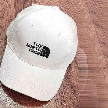 The North Face Popular Unisex Embroidery Baseball Cap Hat Sport Sunhat Cap White I12425-1
