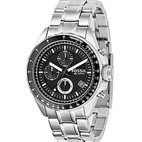 Fossil Decker Black-Dial Chronograph Watch