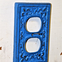 Decorative Blue Electrical Outlet Cover by AquaXpressions