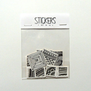 Square stickers power pack