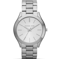 Michael Kors Slim Silver Case Runway Bracelet Watch, 42mm | Bloomingdales's