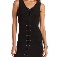 Spiked Bar-Front Bandage Dress