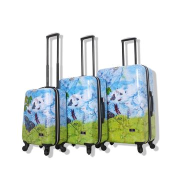 Halina Bee Sturgis FLY DREAM 3 Piece Butterfly Luggage Set