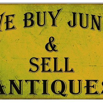 Large Aged Looking Buy Sell Antiques  Reproduction Sign 16″x24″