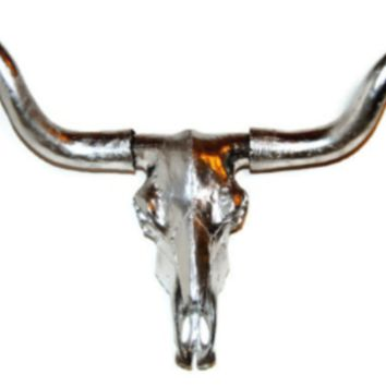 Longhorn - Steer - Large Skull: Black - Horns: Black