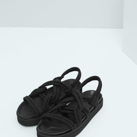 Interwoven cord sandals