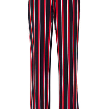 Markus Lupfer - Agnes striped silk-chiffon wide-leg pants