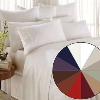 1200 Thread Count 4 Piece Bed Sheet Set All Sizes All Colors FREE SHIPPING!!!
