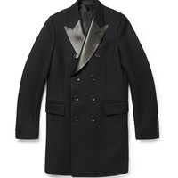 Gucci - Leather-Collar Wool Overcoat | MR PORTER
