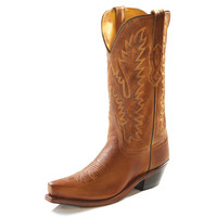 Old West Womens All Over Tan Canyon Western Cowgirl Boots