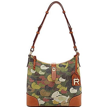 Dooney & Bourke Robertson Collection Camo-Print Hobo Bag - Green