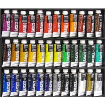 Basics 36 color acrylic color set shop from hobby lobby for Basic acrylic paint colors to have
