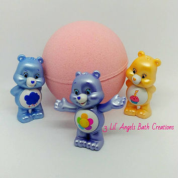 Care Bears bath bomb, surprise bath bomb, bath bomb for kids, toy bath bomb, bath fizzie, bath bomb, surprise inside