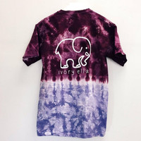 Tie Dye Ivory Ella Letter Print T Shirt Womens 2016 New Summer Style Fashion Camouflage Elephant Cotton Tee