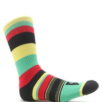 Nike SB Stripes Dri-Fit Skate Sock - Mens Socks - Rasta - One
