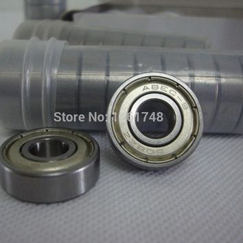 DCCKL72 10 Pcs ABEC-9 608 8*22*7mm Bearing with Dual-side Dustproof Cover Bearings for Inline Roller Skates Patines Scooter Skateboard
