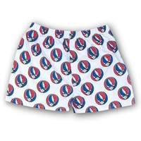 VONE05Y Grateful Dead - Steal Your Face White Boxers