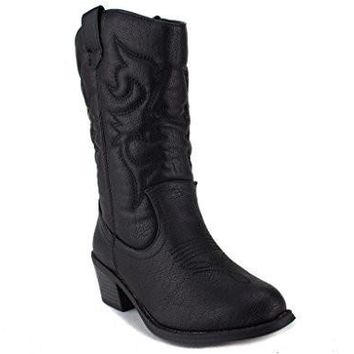 Girls Kids Ositos BDW-14 Tall Stitched Western Cowboy Boots