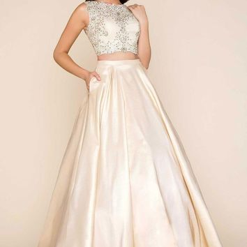 Mac Duggal - Two Piece Ball Gown with Beaded Bodice 77124H