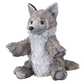 10 Inch Wolf Hand Puppets Stuffed Animals Floppy Zoo Animal