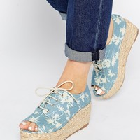 ASOS STARTLE Peep Toe Flatform Shoes