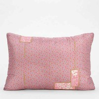 Magical Thinking Overdyed Patchwork Pillow- Maroon One