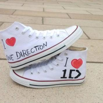 ICIKGQ8 one direction converse shoes hand paint converse sneakers custom converse special chr