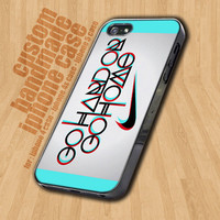 Go Hard Or Go Home Blue Nike Logo  - iPhone 4 / 4s Case - iPhone 5 Case - Black Case - White Case