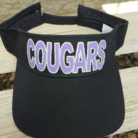 Custom sport team hat Cougars team hat done in colors of your choice