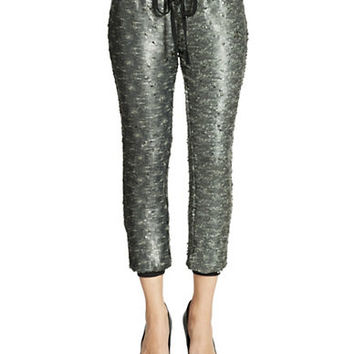 Free People Sequined Knit Jogging Pants