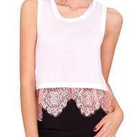 Gracefully Done Knit Crop Top - White