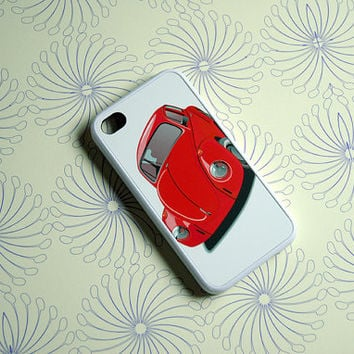 Red VW Bug Custom iPhone Case - unique iphone cases, beetle, beatle, hipster