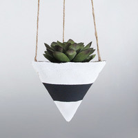 Air Planter, Hanging Planter, Cement Planter, Succulent Planter, Modern Planter, White Planter, Mini Planter, Geometric Planter, Black