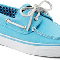 Sperry Top-Sider Bahama Canvas 2-Eye Boat Shoe TurquoiseCanvas, Size 5M  Women's Shoes
